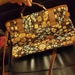 Call It Spring Velvet Flowery Crossbody Bag